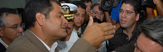 Does the military's attempt to oust Ecuadorian President Rafael Correa suggest U.S. involvement?