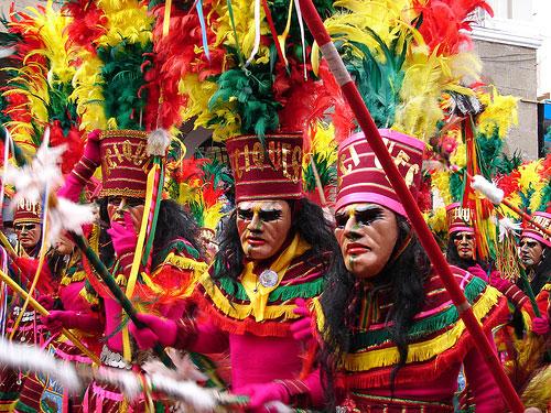 Dancers during Bolivian Carnival