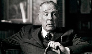 Jorge Luis Borges at his office, Argentine National Library, 1973