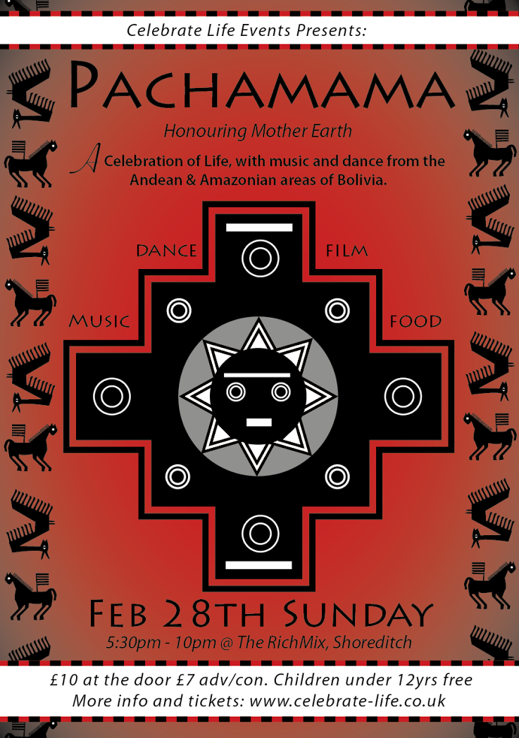 Pachamama comes to London's Rich Mix on Sunday 28th February